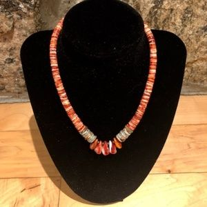 Jewelry - Southwestern Turquoise and Oyster Shell Necklace